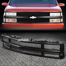 black headlight bumper corner clear led tail light grille for 94