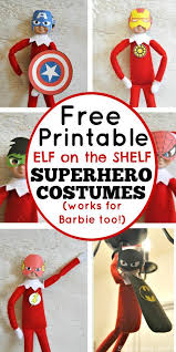 free printable elf shelf superhero costumes simple