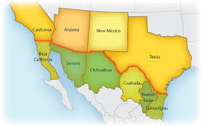 map us mexico border states border legislative conference