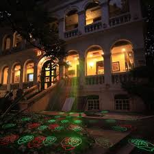 Halloween House Light Show by Alien Red Green Halloween Laser Light Outdoor Garden Waterproof