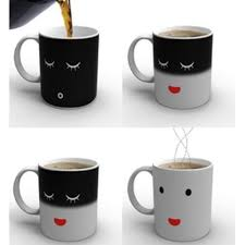 magic coffee mugs tasse cafe thermomug ceramic smilling face magic
