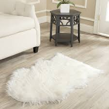 bedroom appealing white faux sheepskin rug on cozy lowes laminate