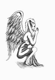 simple angel wings drawing clip art library