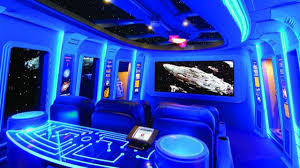 sci fi home theater design ideas with star wars concept unique