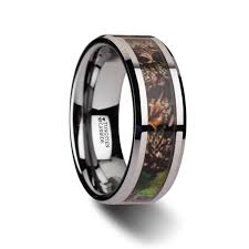 carbon wedding band themiste realistic tree camo tungsten carbide wedding band with