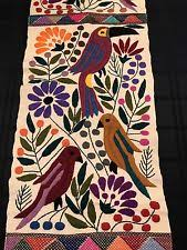 Mexican Table Runner Collectible Mexican Blankets Rugs U0026 Textiles Ebay