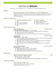 Bar Resume Examples by Resume Simple Format Of Resume Retail And Sales Resume How To