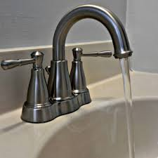faucet double handle kitchen sink faucets lowes in brushed nickel