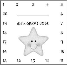 image result for free reward punch card template chore time