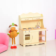 homcom large girls kids wooden play kitchen children u0027s role play