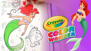 the little mermaid disney princess color wonder coloring ariel