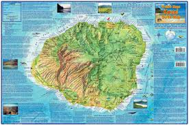 Hawaii On World Map Kauai Hawaii Adventure Guide Franko Maps Waterproof Map Franko