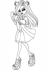 monster high clawdeen wolf coloring pages monster high clawdeen coloring page free printable coloring pages