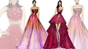 fashion illustration compilation part 2 youtube