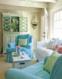 Sandy Beige And Blue Living Room Httpwwwbeachblissdesigns - Beach style decorating living room
