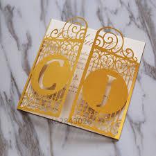 great gatsby wedding invitations 50pcs gold celtic gate laser cut wedding invitation great gatsby