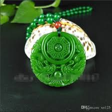 dragon jade necklace pendant images 2018 chinese green jade dragon pendant necklace jewellery fashion jpg