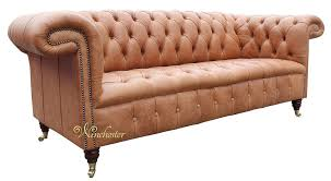 chesterfield 1857 3 seater leather sofa old english saddle