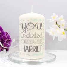 graduation candles personalised graduation candle by ltd