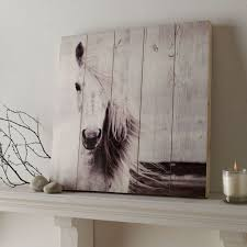 Horse Home Decor by Horse Print On Wood Wall Art Grahambrownus