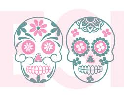 sugar skull designs svg dxf eps png cutting files by esi