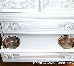 Dog Armoire Furniture Dog Food Storage Cabinet Diy Dog Food Storage Bin From An Old