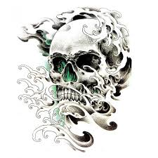 3d skull tattoo stickers 4 in one package buytra com