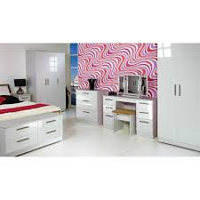 White High Gloss Bedroom Furniture by Kensington 2ft6 2 Drawer Wardrobe