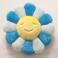 Baby Blue Cushions Takashi Murakami Flower Cushions Kumi Contemporary Japanese Art