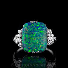 black opal engagement rings vintage black opal diamond ring