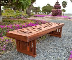 Designer Wooden Garden Bench by Garden Bench No Back Outdoorlivingdecor