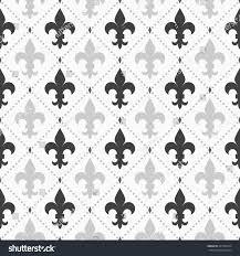shades gray light dark fleurdelis patternseamless stock vector