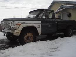 jeep honcho stepside 78 j10 pick up a well used truck