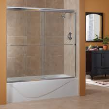 Sliding Glass Shower Doors Over Tub by Cozy Bathtub Closed Frameless Shower Doors And Two Type Tile Usual
