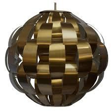 lightolier brass ribbon pendant light for sale at 1stdibs