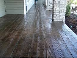 Stain Concrete Patio Yourself Concrete That Has Been Stamped And Dyed To Look Like Hardwood For