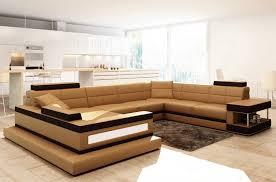canape angle cuir italien canapé d angle en cuir italien 8 places majestic marron mobilier