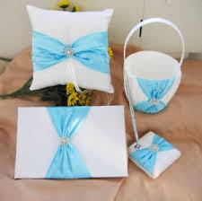 wedding guest register white wedding guest register book ring pillow flower basket silver