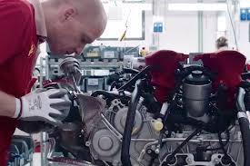 ferrari 488 engine ferrari offers peek at twin turbo v8 assembly