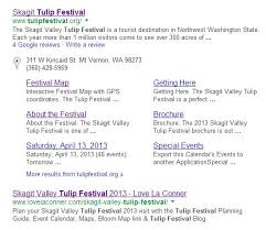 skagit valley tulip festival bloom map organic seo vs ad skagit marketing