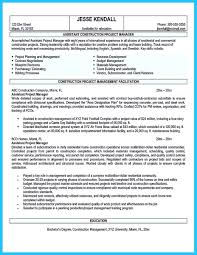 Property Management Resume Construction Manager Resume Page 1 Resume Writing Tips For All