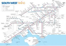 Chicago Trains Map by South West Trains Map Southwest Trains Map England