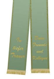 sprüche trauerschleife trauerband bedruckt 125mm x 75cm olive preiswert kaufen
