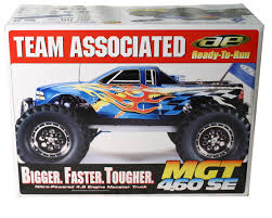 rc nitro monster trucks team associated monster gt 4 60 se 1 8 scale rtr monster truck