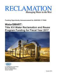bureau d o archive bureau of reclamation releases two title xvi funding
