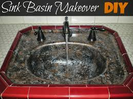 simply diy sink basin makeover with giani granite countertop paint