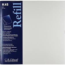 cr gibson photo album c r gibson k45 unimount magnetic sheet refills for