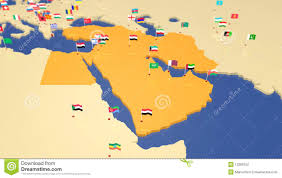 World Map Middle East by Map Of Middle East With National Flags Stock Photography Image