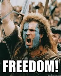 Braveheart Freedom Meme - freedom braveheart quickmeme