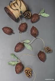 diy felt pine cones pinecone garland pinecone and garlands